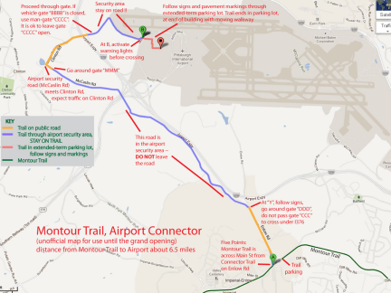 Montour airport connector map